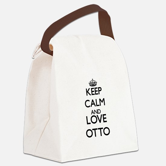 Keep calm and love Otto Canvas Lunch Bag