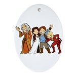Team Awesome (oval) Oval Ornament