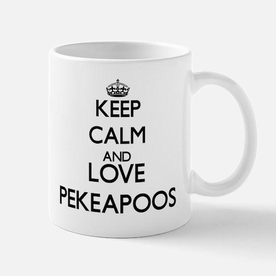 Keep calm and love Pekeapoos Mugs