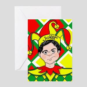 Batman joker comic gotham ha art greeting cards cafepress the joker greeting cards m4hsunfo Images
