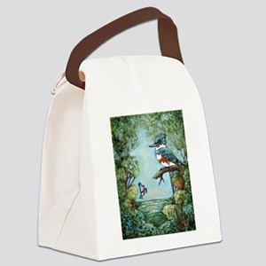 """KINGFISHER'S GROVE"" Canvas Lunch Bag"
