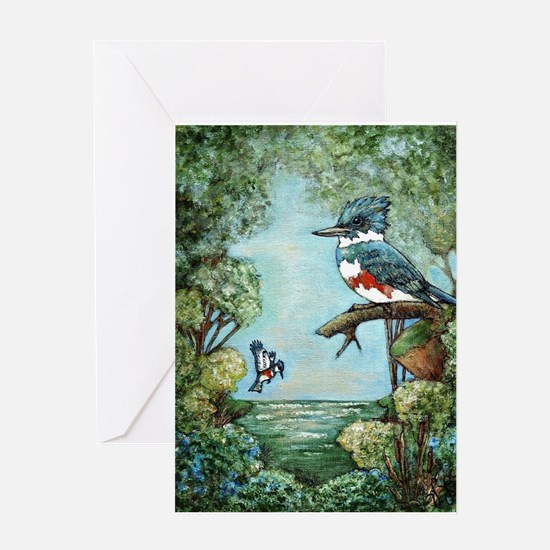 """KINGFISHER'S GROVE"" Greeting Cards"