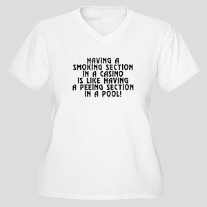 Smoking section.. Women's Plus Size V-Neck T-Shirt