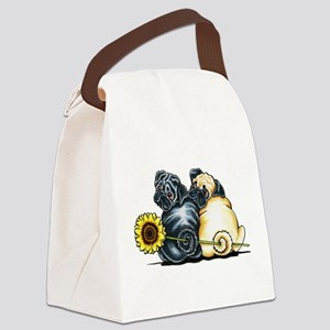 Sunny Pugs Canvas Lunch Bag