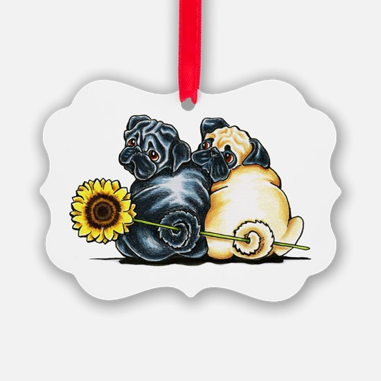 Sunny Pugs Ornament
