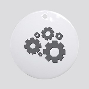 Mechanical Gears Ornament (Round)