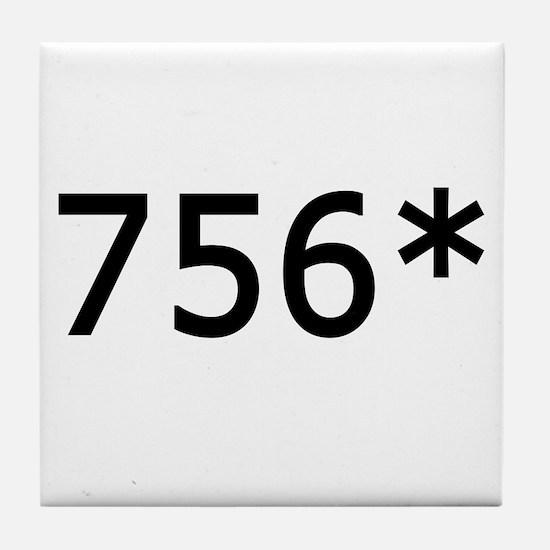756 Asterisk Home Run Record Tile Coaster