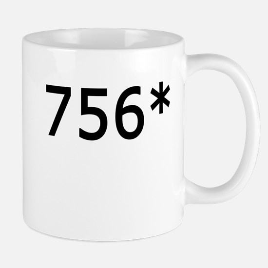 756 Asterisk Home Run Record Mug