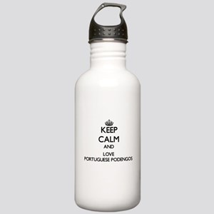 Keep calm and love Por Stainless Water Bottle 1.0L