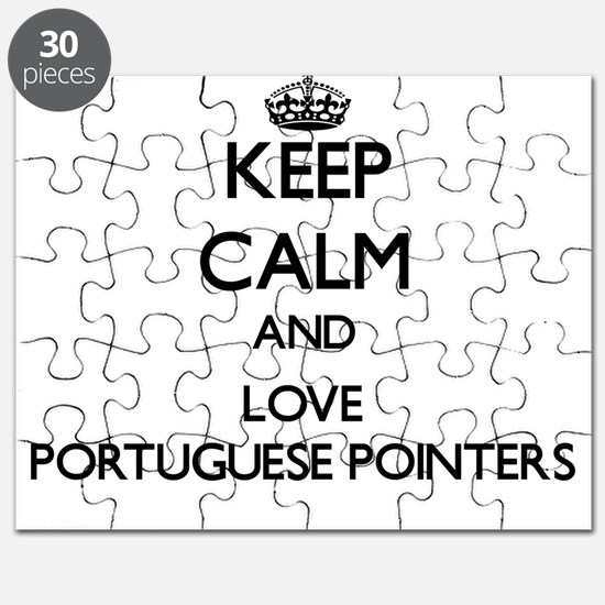 Keep calm and love Portuguese Pointers Puzzle