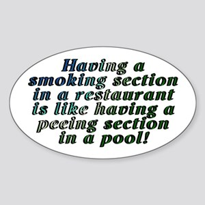 Smoking...restaurant - Sticker (Oval)