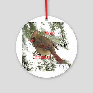 Cardinal female Ornament (Round)
