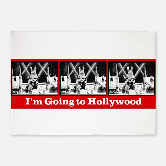 I'm Going to Hollywood! 5'x7'Area Rug