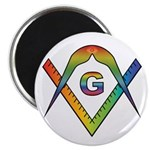 Masonic Rainbow & Eye S&C Magnet