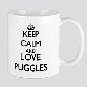 Keep calm and love Puggles Mugs