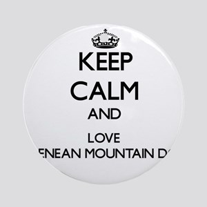 Keep calm and love Pyrenean Mount Ornament (Round)