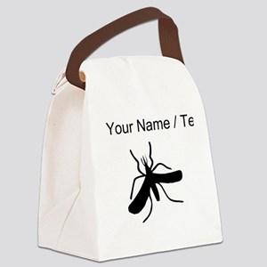 Custom Mosquito Silhouette Canvas Lunch Bag