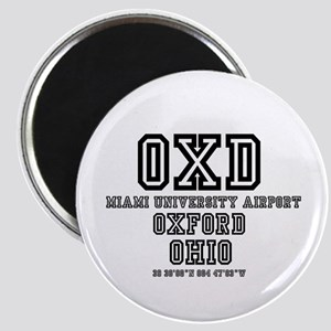UNIVERSITY AIRPORT CODES - OXD - Magnets