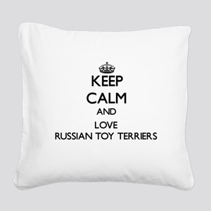 Keep calm and love Russian To Square Canvas Pillow