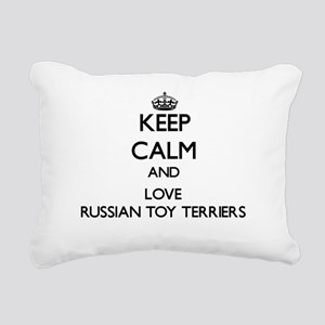 Keep calm and love Russi Rectangular Canvas Pillow