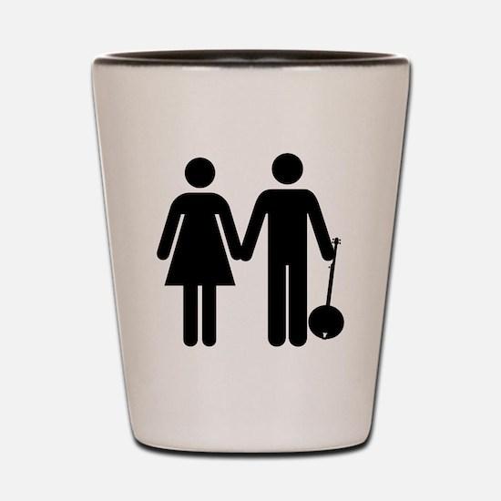 Man + Woman + Banjo Shot Glass