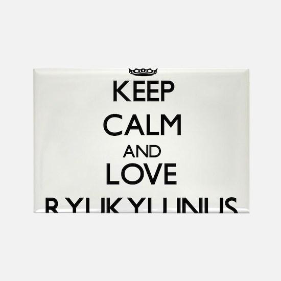 Keep calm and love Ryukyu Inus Magnets
