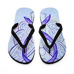 Violet Ribbon Angel Flip Flops