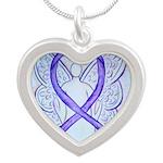 Violet Ribbon Angel Necklaces