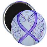 Violet Ribbon Angel Magnets