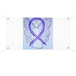Violet Ribbon Angel Banner
