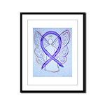 Violet Ribbon Angel Framed Panel Print