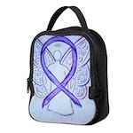 Violet Ribbon Angel Neoprene Lunch Bag