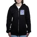 Violet Ribbon Angel Women's Zip Hoodie