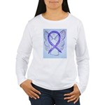 Violet Ribbon Angel Long Sleeve T-Shirt