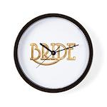 Bride (shiny gold) Wall Clock