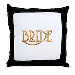 Bride (shiny gold) Throw Pillow