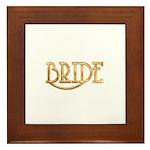 Bride (shiny gold) Framed Tile