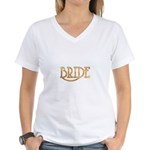 Bride (shiny gold) Women's V-Neck T-Shirt