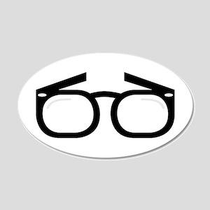 Eye Glasses Wall Decal