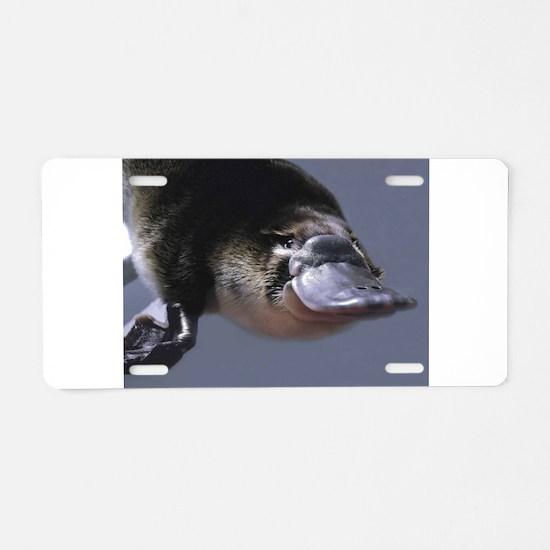 platypus Aluminum License Plate