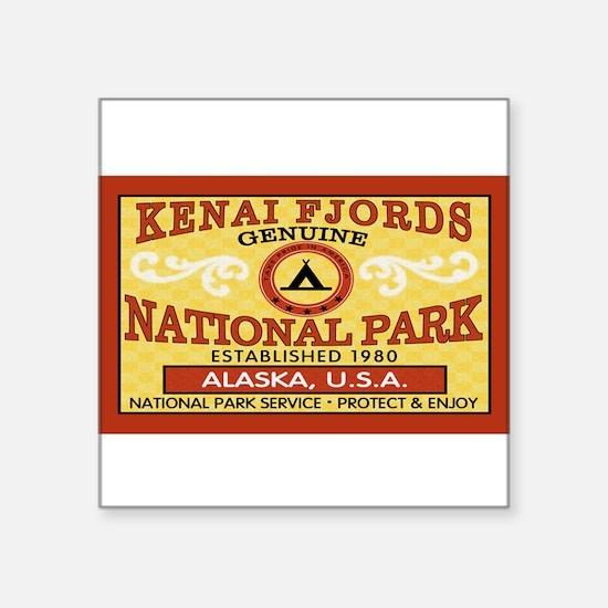 "Cute Kenai fjords Square Sticker 3"" x 3"""
