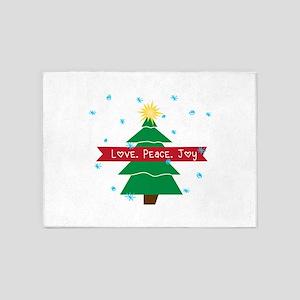 Love Peace Joy 5'x7'Area Rug