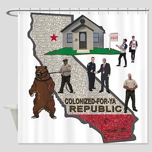 Colonized-for-ya Republic Shower Curtain