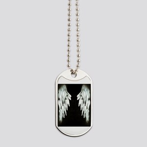 Glowing Angel Wings Dog Tags