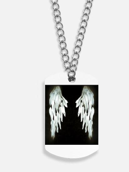 Glowing Angel Wings Dog Tags
