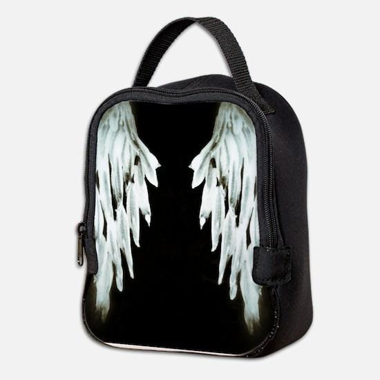 Glowing Angel Wings Neoprene Lunch Bag