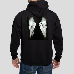 Glowing Angel Wings Hoodie (dark)