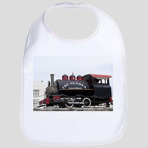 Old Alaska Railroad steam locomotive engine, A Bib