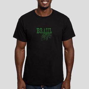 Brazil Roots Men's Fitted T-Shirt (dark)