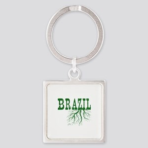Brazil Roots Square Keychain